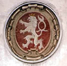 Náměstí Svornosti no. 1, Schwarzenberg coat-of-arms on the front facade