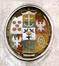 Náměstí Svornosti no. 1, Eggenberg coat-of-arms on the front facade