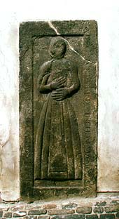 Horní no. 159, Kaplanka, tombstone of daghter of baker Matyáš Planckl - Anežka