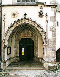 Church of St. Vitus in Český Krumlov, entrance portal
