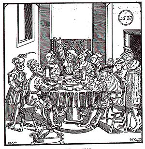 Feast, period illustration, 1537