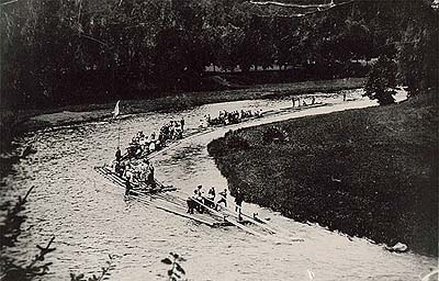 Rafting trip, historical photo