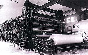 Papírny Větřní, papírenské stroje