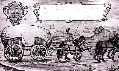 Forman's vehicle, drawing from 1619