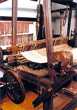 Weaver's loom from the beginning of the 19th century, collection of Regional Museum of National History in Český Krumlov