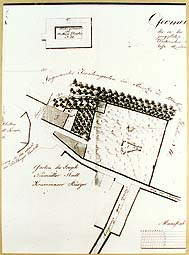 Map of cemetery at the chapel of St. Martin