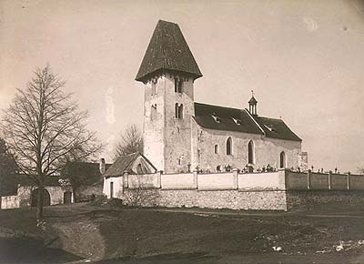Church in Boletice, historical photo