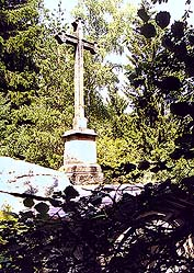Place of pilgrimage Maria Rast near Vyšší Brod, cross on the stone where the Virgin Mary rested, foto: Lubor Mrázek