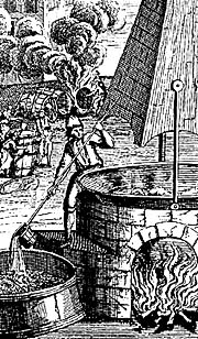 Historic depiction of brewing
