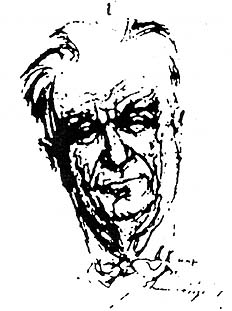Johannes Urzidil, drawing by Max Kreibich, 1970