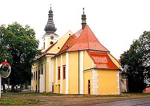 Church of Pilgrimage in Svatý Kámen, overview