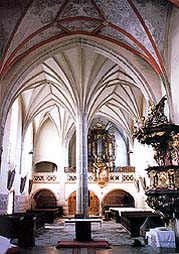 Church of Pilgrimage in Kájov, vaults in church's interior