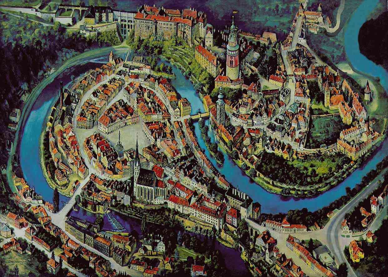 Click-sensitive map of Český Krumlov