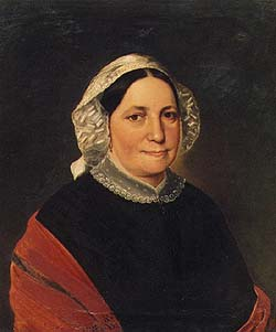Charles Louis Philippot, portrait of unknown woman, collection of Regional Museum of National History in Český Krumlov